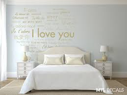 Heart Wall Stickers For Bedrooms International I Love You Heart Wall Decal Bedroom Wall Decor