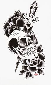traditional skull and dagger flash traditional skull and