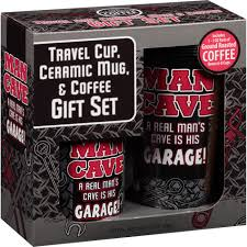 coffee gift sets travel cup ceramic mug coffee cave gift set 3 pc shoptv