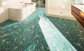 turquoise tile bathroom ceramic floor tiles the pros and cons nonagon style
