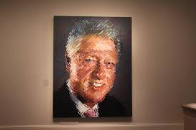 bill clinton u0027s presidential portrait has a reference to monica