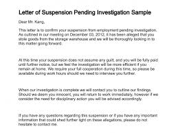 investigation report template disciplinary hearing letter of suspension