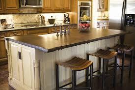 granite island kitchen granite top kitchen island with seating modern stainless steel