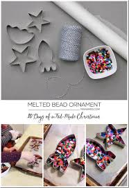 10 days of a kid made melted bead ornament