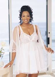 Wedding Sleepwear Bride Plus Size Bridal Lingerie Babydoll Bridal Peignoir Plus Size