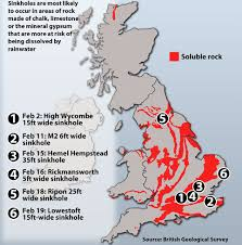 Hertfordshire England Map by Could A Sinkhole Swallow Your Home Scientists Warn Of More Vast