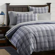 tribeca plaid reversible duvet cover sham pbteen