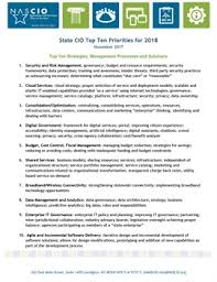 state cio top ten priorities