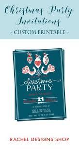 custom christmas invitation kraft christmas invitation printable