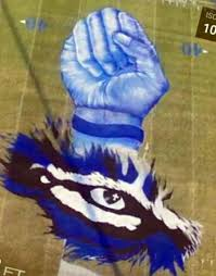 drawing turns into erath high mural on football field