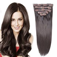 14 remy human hair clip in extensions for women