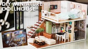 Miniature Dollhouse Kitchen Furniture Diy Miniature Dollhouse Full Set Bedroom Kitchen Living Room
