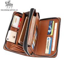 designer handy business wallet designer zipper leather purse