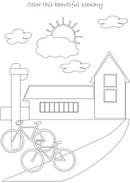 unique scenery coloring pages 70 in gallery coloring ideas with