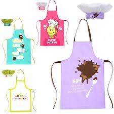 tablier de cuisine enfant personnalisé tablier enfant toque petit chef polyester antitache cuisinier en herbe