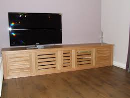 Louvered Cabinet Door Bespoke Oak Tv Cabinet With Louvered Doors