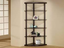 Corner Bookcase Wood Bookshelf Black Corner Bookcase In Conjunction With Black Corner