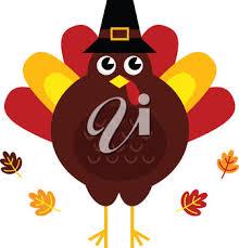 clip illustration of a thanksgiving turkey