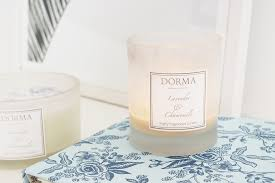 review dorma lavender and chamomile candle at home with abby