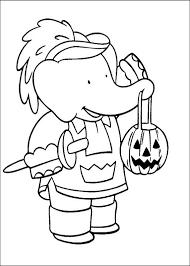babar halloween coloring