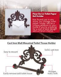 amazon com fleur de lis cast iron toilet paper roll holder cast