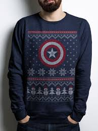 christmas jumper captain america christmas jumper is chic