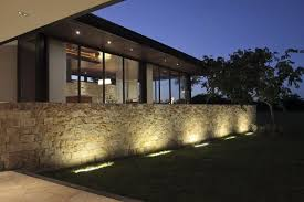stylish design outdoor fence lighting pleasing outdoor stone wall
