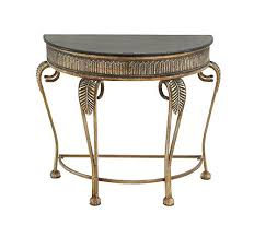 Marble Top Entryway Table Half Moon Console Table U2013 Launchwith Me