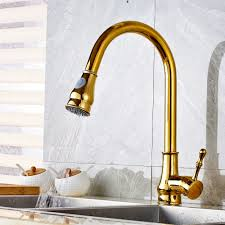 discount kitchen faucets pull out sprayer calypso golden kitchen sink faucet with pull out sprayer faucet