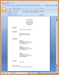 simple cv format in word file resume sle word file inspiration resume sle word file