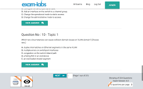 200 105 cisco real exam questions 100 free exam labs