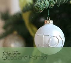 diy ornament with a glue gun write out a name word or