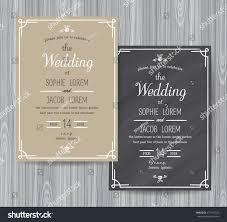Design Card Wedding Invitation Wedding Invitation Vintage Card Wedding Invitation Stock Vector