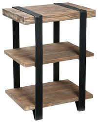 side table reclaimed wood side table cabinet with drawer and