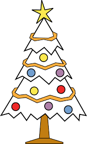 xmas stuff for christmas tree drawing template clip art library