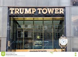 exterior of trump tower new york city usa editorial photo