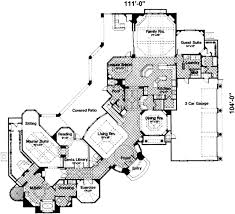 Floor Plan Front View by European Style House Plan 4 Beds 5 50 Baths 6250 Sq Ft Plan 135 101