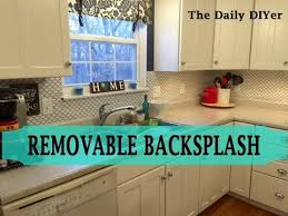 removable kitchen backsplash