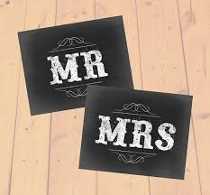 Mr And Mrs Wedding Signs Mr And Mrs Signs Instant Download Wedding Printable Wedding