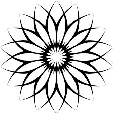 clipart flower line art 3