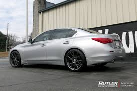 infiniti q50 blacked out infiniti q50 with 20in vossen vfs6 wheels butler tire luxury