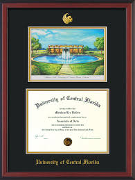 ucf diploma frame univ of central florida diploma frame c watercolor black