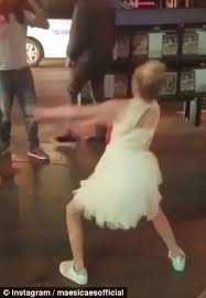dance moms star shocks crowd with street dance battle daily mail