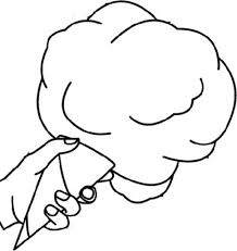 the amazing in addition to interesting cotton candy coloring page