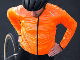 orange cycling jacket stand out this season with a blaze orange standard rando from twin