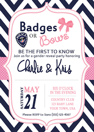 badges or bows gender reveal party
