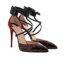 christian louboutin suzanna 100 leo patent nappa shiny pumps brown