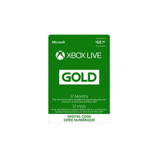 xbox gift card xbox live gold 12 mo gift card works only in canada read