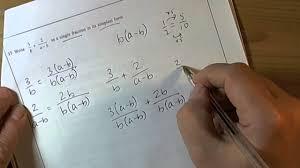q17 march 2012 higher gcse mathematics unit 2 algebraic fraction