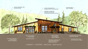 watercolor rendering of the front elevation for the k u0027ima w